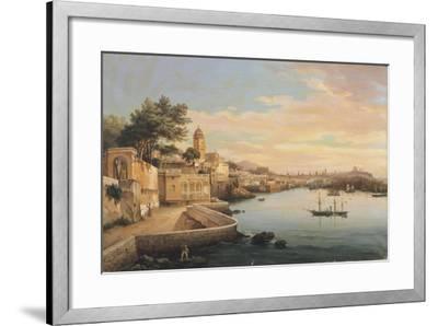 View of Genoa from the Gardens of Palazzo Doria Pamphilj-Pasquale Domenico Cambiaso-Framed Giclee Print