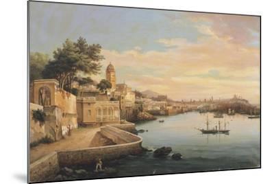 View of Genoa from the Gardens of Palazzo Doria Pamphilj-Pasquale Domenico Cambiaso-Mounted Giclee Print
