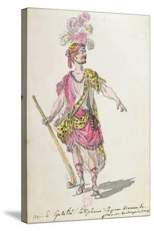 Costume Design for a Performance in Paris in 1762 of Lully's Opera 'Acis Et Galatee'-Nicolas Boquet-Stretched Canvas Print