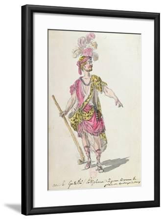 Costume Design for a Performance in Paris in 1762 of Lully's Opera 'Acis Et Galatee'-Nicolas Boquet-Framed Giclee Print