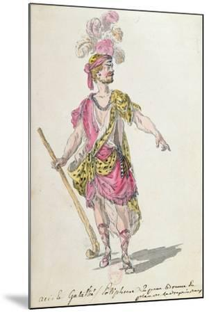 Costume Design for a Performance in Paris in 1762 of Lully's Opera 'Acis Et Galatee'-Nicolas Boquet-Mounted Giclee Print