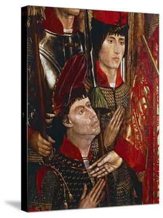 The Princes of Braganza, Detail of Altarpiece of San Vincenzo-Nuno Goncalves-Stretched Canvas Print