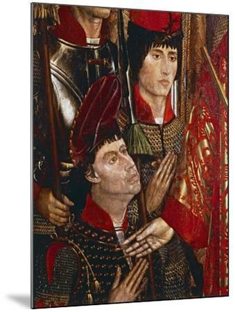 The Princes of Braganza, Detail of Altarpiece of San Vincenzo-Nuno Goncalves-Mounted Giclee Print