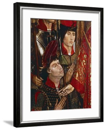 The Princes of Braganza, Detail of Altarpiece of San Vincenzo-Nuno Goncalves-Framed Giclee Print