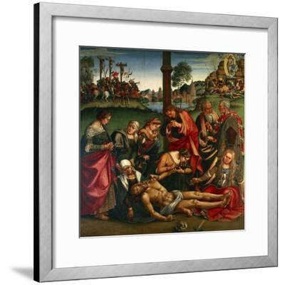 The Deposion or the Lamentation over the Dead Christ, 1502-Luca Signorelli-Framed Giclee Print