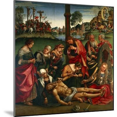 The Deposion or the Lamentation over the Dead Christ, 1502-Luca Signorelli-Mounted Giclee Print