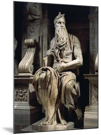 Italy, Rome, Basilica of St. Peter, Moses, Detail from Tomb of Julius II, Circa 1515--Mounted Giclee Print