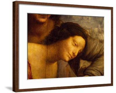 Face of Virgin, Detail from St Anne, Virgin and Child with Lamb, 1508-1513-Leonardo da Vinci-Framed Giclee Print