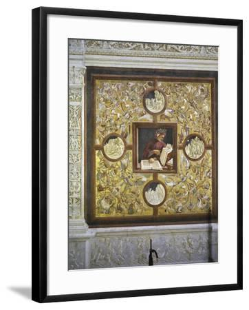 Dante Alighieri, Portrait from Illustrious People Cycle, 1499-1504-Luca Signorelli-Framed Giclee Print