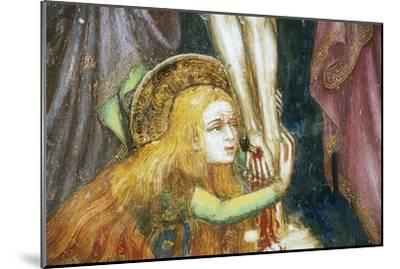 Mary Magdalene at Foot of Cross, Detail from Fresco Cycle Stories of Virgin-Ottaviano Nelli-Mounted Giclee Print