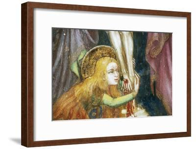 Mary Magdalene at Foot of Cross, Detail from Fresco Cycle Stories of Virgin-Ottaviano Nelli-Framed Giclee Print