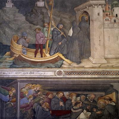 Augustine Returning to Carthage, Saint's Death, Scene from Life of Saint Augustine, 1420-1425-Ottaviano Nelli-Stretched Canvas Print