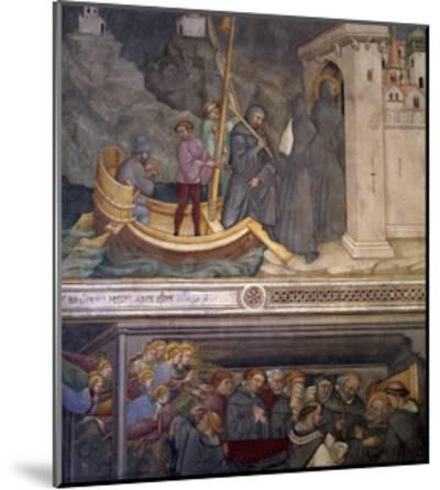 Augustine Returning to Carthage, Saint's Death, Scene from Life of Saint Augustine, 1420-1425-Ottaviano Nelli-Mounted Giclee Print
