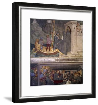 Augustine Returning to Carthage, Saint's Death, Scene from Life of Saint Augustine, 1420-1425-Ottaviano Nelli-Framed Giclee Print