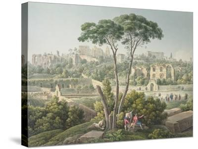 View of the Palatine Hill in Rome-Louis-Francois Cassas-Stretched Canvas Print