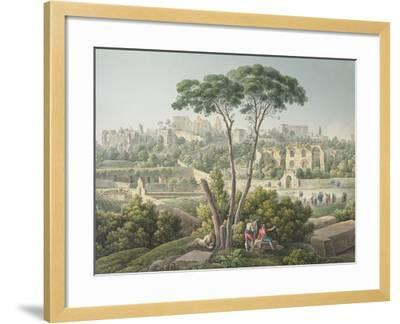 View of the Palatine Hill in Rome-Louis-Francois Cassas-Framed Giclee Print