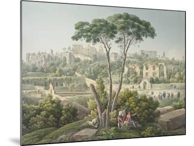 View of the Palatine Hill in Rome-Louis-Francois Cassas-Mounted Giclee Print
