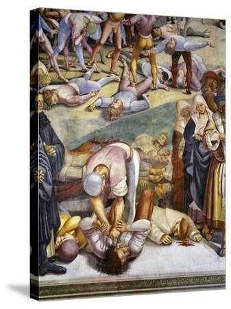 Sermon and Deeds of Antichrist, from Last Judgment Fresco Cycle, 1499-1504-Luca Signorelli-Stretched Canvas Print