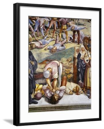 Sermon and Deeds of Antichrist, from Last Judgment Fresco Cycle, 1499-1504-Luca Signorelli-Framed Giclee Print