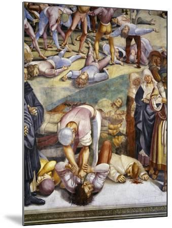 Sermon and Deeds of Antichrist, from Last Judgment Fresco Cycle, 1499-1504-Luca Signorelli-Mounted Giclee Print