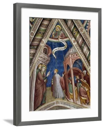 Augustine Being Taken to School by Saint Monica, Scene from Life of Saint Augustine, 1420-1425-Ottaviano Nelli-Framed Giclee Print