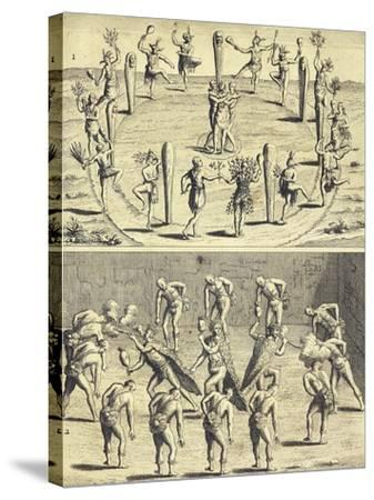 Sacred Rites of Native Canadians-Joseph-Francois Lafitau-Stretched Canvas Print
