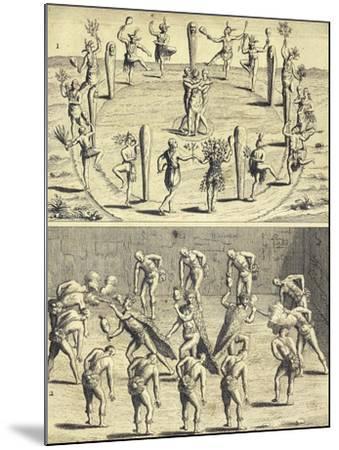 Sacred Rites of Native Canadians-Joseph-Francois Lafitau-Mounted Giclee Print