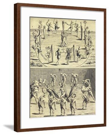 Sacred Rites of Native Canadians-Joseph-Francois Lafitau-Framed Giclee Print