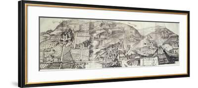 View of the Countryside around Frascati and Villa Mondragone-Matteo Greuter-Framed Giclee Print