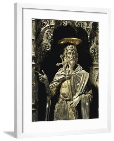 Statue of Saint John the Baptist from Silver Altar of Baptistery of San Giovanni-Michelozzo Di Bartolomeo-Framed Giclee Print