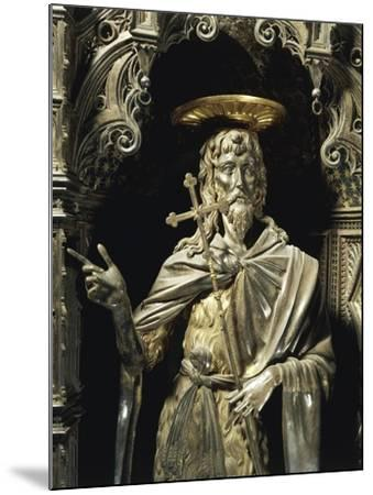 Statue of Saint John the Baptist from Silver Altar of Baptistery of San Giovanni-Michelozzo Di Bartolomeo-Mounted Giclee Print