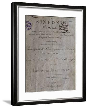 Title Page of Score for Pastoral Symphony No 6 in F Major, Opus 68-Ludwig Van Beethoven-Framed Giclee Print