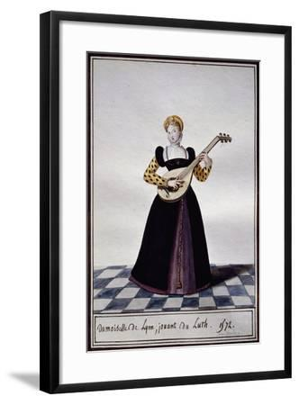 Young Woman from Lyon Playing Lute at Time of Charles IX, 1572-Pierre de La Mesangere-Framed Giclee Print