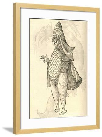 "Illustration of ""Monstrum Marinum Rudimenta Habitus Episcopi Referens""--Framed Giclee Print"