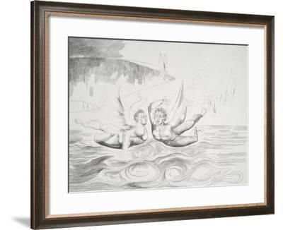 The Circle of the Corrupt Officials: the Devils Mauling Each Other-William Blake-Framed Giclee Print