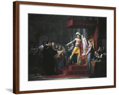 Gustavus II Adolphus Vasa Imposing Oath of Allegiance to His Daughter Cristina-Pelagio Palagi-Framed Giclee Print