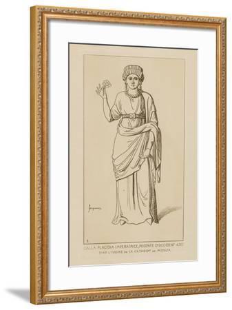 Galla Placidia Imperatrice, Regente D'Occident, 430-Raphael Jacquemin-Framed Giclee Print