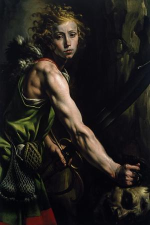David with the Head of Goliath-Tanzio da Varallo-Stretched Canvas Print
