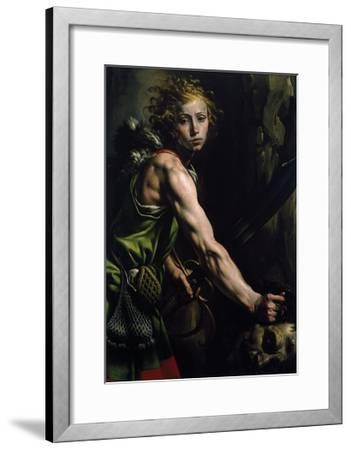 David with the Head of Goliath-Tanzio da Varallo-Framed Giclee Print