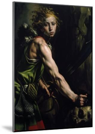 David with the Head of Goliath-Tanzio da Varallo-Mounted Giclee Print