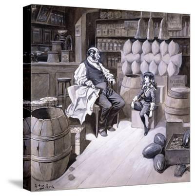 Mr. Hobbs-Reginald Bathurst Birch-Stretched Canvas Print