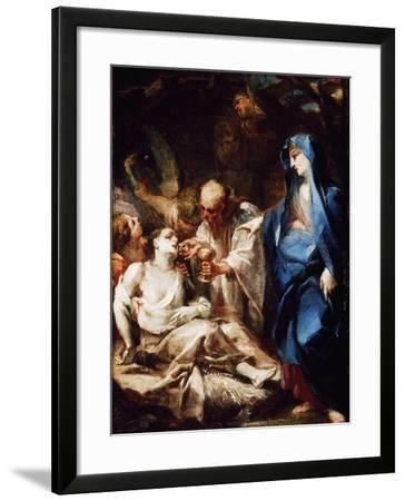 The Virgin Mary Sending the Viaticum to a Devotee-Pietro Antonio Magatti-Framed Giclee Print
