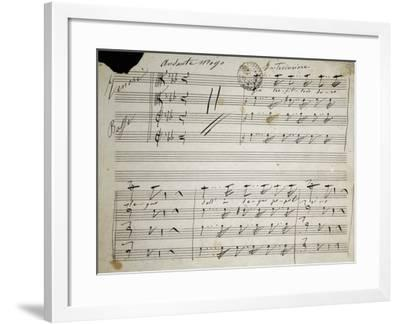 Autograph Sheet Music of Seven Last Words of Our Lord, 1856-Saverio Mercadante-Framed Giclee Print