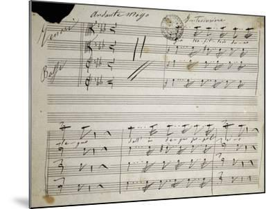 Autograph Sheet Music of Seven Last Words of Our Lord, 1856-Saverio Mercadante-Mounted Giclee Print