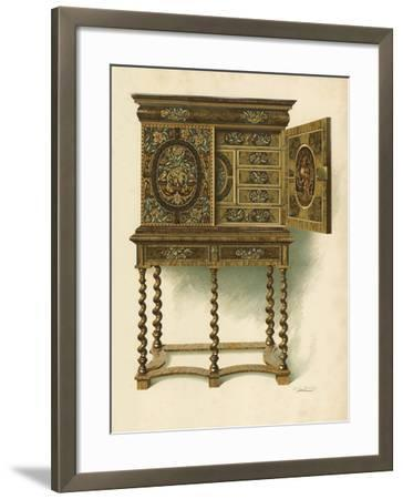 Walnut Cabinet Inlaid with Marqueterie-Shirley Charles Llewellyn Slocombe-Framed Giclee Print