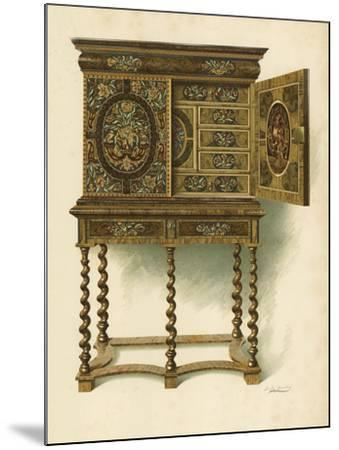 Walnut Cabinet Inlaid with Marqueterie-Shirley Charles Llewellyn Slocombe-Mounted Giclee Print