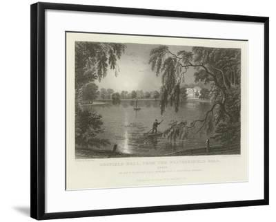 Gosfield Hall, from the Weathersfield Road, Essex, the Seat of E G Barnard, Esquire-William Henry Bartlett-Framed Giclee Print