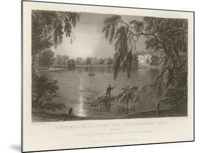 Gosfield Hall, from the Weathersfield Road, Essex, the Seat of E G Barnard, Esquire-William Henry Bartlett-Mounted Giclee Print