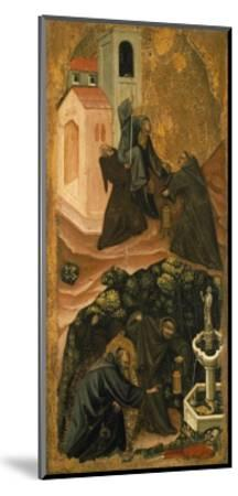 Upper Section, St. Anthony Abbot Leaving His Monastery in Patras, Lower Section-Vitale da Bologna-Mounted Giclee Print