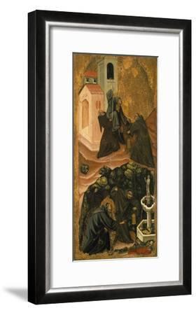 Upper Section, St. Anthony Abbot Leaving His Monastery in Patras, Lower Section-Vitale da Bologna-Framed Giclee Print
